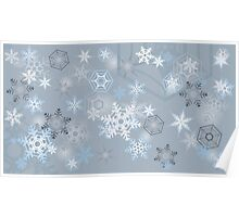 Snowflakes background Poster