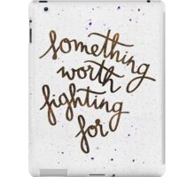 "Harry Potter ""Something worth fighting for"" iPad Case/Skin"