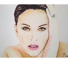 Natalie Portman, Pastels Portrait, by James Patrick Photographic Print