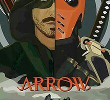 Arrow Arrow Vs. Deathstroke by Fapthesystem