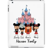Choose your character Pink Castle Family Vacation ~YOU MUST BUBBLEMAIL ME BEFORE PURCHASING FOR YOUR CUSTOM LISTING~  iPad Case/Skin