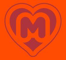Heart M letter Kids Clothes