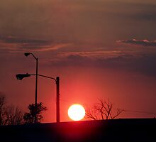 Street-Lights Sundown by idiotsphinx