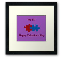 We Fit (Jigsaw Valentines) Framed Print
