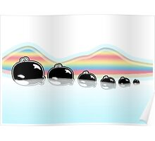 Rainbow Orcas Poster