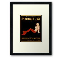 Mermaid Ale Framed Print