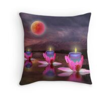Candlelight Vigil Throw Pillow