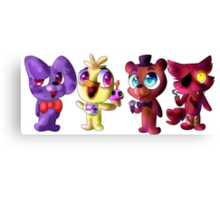 Five (Adorable) Nights at Freddy's Canvas Print