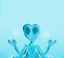 Meditating Alien by spazzynewton