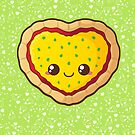 Heart Pizza [Green] by pai-thagoras