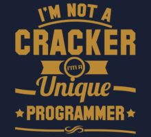 Programmer : I'm not a cracker, i'm a unique programmer by dmcloth