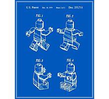 Lego Man Patent - Blueprint (v3) Photographic Print