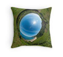 Kinnagoe Bay - Sky In Throw Pillow