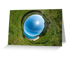 Kinnagoe Bay - Sky In Greeting Card