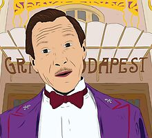 M. Gustave - The Grand Budapest Hotel, Wes Anderson by ryanthecreator