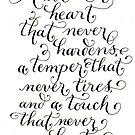 Inspirational quote Have a heart calligraphy art by Melissa Goza