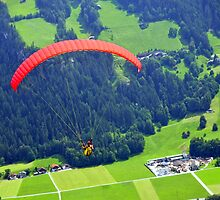 Para Gliding in the Tirolean Alps by bertspix