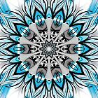 Blue Black Kaleidoscope Design by fantasytripp
