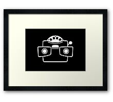 Viewmaster White Framed Print