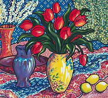 Red Tulips by Deborah Conroy