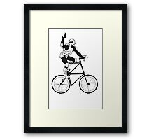 The Scout Trooper Tall Bike Design Framed Print