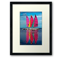 Three Sails Framed Print