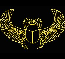 Scarab - Black & Gold by Donna Huntriss