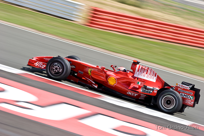 Kimi Raikkonen - Silverstone 2008 II by Tom Allen