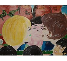 Double Kiss - Blonde and Brunette Fans - Ringo Starr Photographic Print