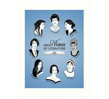 Great Women of Literature Art Print