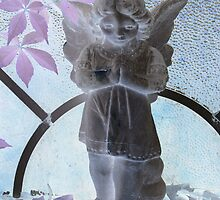Beautiful praying angel purple leafs from a childs view by bkind2animals
