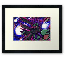 Shiny Hydreigon   Draco Meteor Framed Print