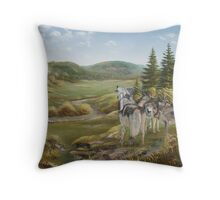 Wolves from Grandpa's Hills Throw Pillow