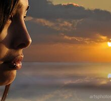 Sunset Portrait  :) by artsphotoshop