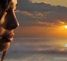 Sunset Portrait  :) by artsphotoshop