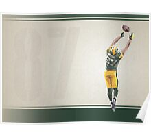Jordy Nelson Low Poly Art Poster