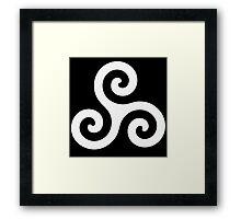 Triskele Chest Design (White) Framed Print