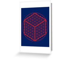 Cubed Flower of Life  Greeting Card