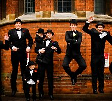 Jumping Groom and Groomsmen - Godfather style by nayamina