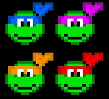 8-bit Turtles by budwick5750