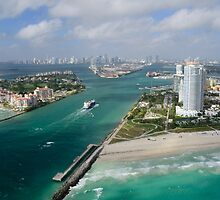Approaching Miami by Kasia-D
