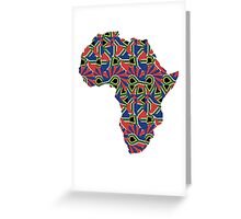 Africa Pattern  Greeting Card