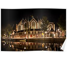 Amsterdam night: The Oude Church Poster