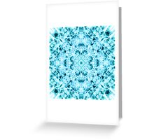"""""""Spirit of India: Snow-Fleur"""" in turquoise and cyan Greeting Card"""