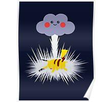 Pikachu's Thunder bolt Poster