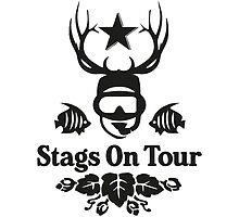 Stags On Tour - Scuba Diving - Diving T-Shirt by springwoodbooks