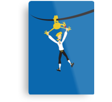 Rubber chicken with a pulley in the middle Metal Print