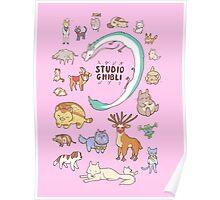 Animals of Studio Ghibli Poster