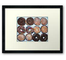"""Delightful Donuts"" Framed Print"