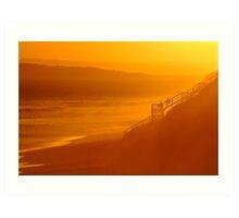 End of Day 13th Beach Art Print